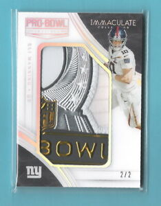 Eli Manning 2016 Immaculate Pro Bowl Swatches #2/2 Game Worn COOL Multi Colored