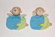 2 x Sterntaler Monkey AFFE Anton blau grün Schmusetuch Schnuffeltuch Kuscheltuch