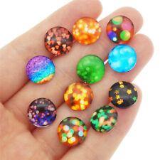 50PCS Assorted Embellishment Glass Flatback Ornament Cab Decor DIY Accessories