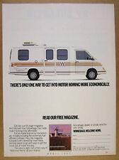 1987 Winnebago LeSharo Motorhome RV photo vintage print Ad