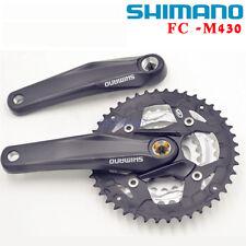 SHIMANO Alivio FC-M430 9 Speed Square Crank Triple MTB Bike Crankset 22×32×44T
