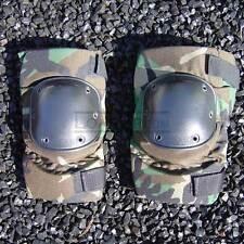 Knee Pads All Terrain Tactical USGI Military Woodland Camo LARGE