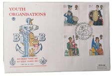 1982 YOUTH ORGANISATIONS FIRST DAY COVER FDC boy scouts + Brigade stamps 75th