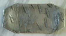 Vintage Wendell August Forge USA Handmade Metal Wheat Patten Food Platter Tray