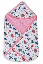 Sweethearts Newborn 0-9 Month Baby Swaddle Multipurpose Hooded Wrapper Blanket