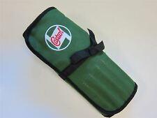 Castrol Classic Oil Cloth Tool Roll 15 Pocket Green Tool Tidy