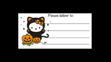 Hello Kitty Pumpkin Cat Halloween Please Deliver To Pdt Shipping Labels Matte