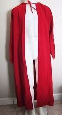 RUBIES~RED VELVET HOODED CAPE CLOAK RIDING HOOD HALLOWEEN COSTUME ONE SIZE