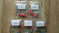 5x STANDARD Running ledger sea fishing  rigs 6/0 BH hook good 4 cod bass