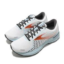 Brooks Adrenaline GTS 21 D Wide White Blue Women Road Running Shoes 1203291D 193