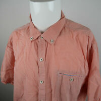 Tommy Bahama Button Up Shirt Mens 2XL Salmon Color Short Sleeve Tencel Cotton