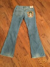 Women True Religion Bobby Embroidered  DISTRESSED Geisha Jeans size 28