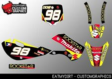 SUZUKI RM 65 DRZ 110 FULL CUSTOM GRAPHICS KIT STICKERS MOTOCROSS DECALS ATV MX