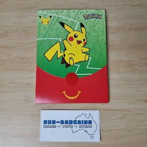 Pokemon Trading Card Green 8 - Stickers - 2021 McDonald's Happy Meal Toy - NEW