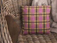 Katie Alice Highland Fling Small Shabby Chic Tartan Scatter Cushion