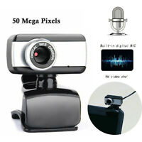 50.0 Mega Pixel USB2.0 HD Webcam Camera Web Cam With Microphone For PC Laptop