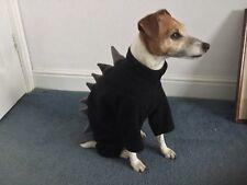 """dog pyjamas jumper puppy Italian fleece dinosaur all in one fleece 16-18"""" black"""