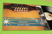 RICCARDO ZAPPA LP TRASPARENZE ORIGINALE ITALIAN 1980 EX+