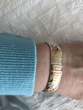 14 KT MULTI-COLORED GOLD OMEGA (Cleopatra) BRACELET 24 GRAMS 7.25 Inches❤️