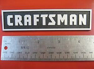 "Sears Craftsman Tool Box Badge   Chest Cabinet Emblem Decal Sticker Logo  4 5/8"""