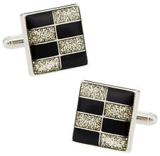 Brickwall Diamond Dust Cufflinks Direct from Cuff-Daddy