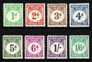 Gilbert & Ellice Islands 1940 Postage Due set, MH (SG D1/D8)