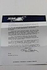 Letter Of Introduction For Pewter Model Starship Enterprise From Franklin Mint.