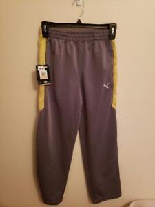 MSRP $50 Puma Gray Boys Track Pants Size Small