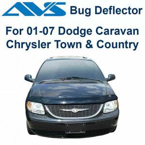 AVS 24607 - Fits 2001-2007 Dodge Caravan Bugflector Smoke Hood Protector Shield