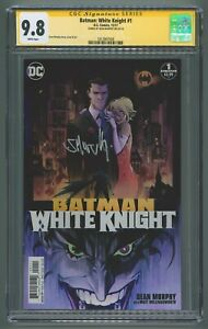 CGC 9.8 Batman: White Knight #1 Signed Sean Murphy on 5/5/18 WHITE PAGES