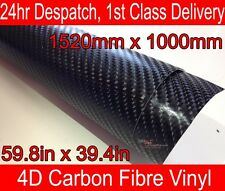 4D Carbon Fibre Vinyl Wrap Film Sheet BLACK 1000mm(39.4in) x 1520mm(59.8in)