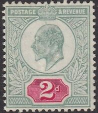 SG 229 2d Dull Blue Green & Bright Carmine M12 (-) Hendon  shade in V.L.M.Mint.