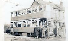 Tram RP postcard size old photo card Southend on Sea no 60 London Road 1942