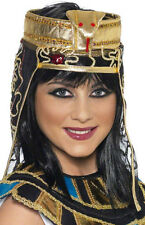 CHAPEAU COIFFE EGYPTIENNE CLEOPATRE AVEC SERPENT EGYPTE EN TISSU DEGUISEMENT