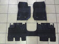 14-18 Jeep Wrangler JK All Weather Slush Mats 4DR Front & Rear Black Mopar Oem