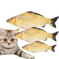 Funny Lifelike Fish Shape Pet Kitten Cat Mint Play Catnip Interactive Toy Fast