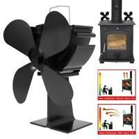 Efficacité cheminée éco ventilateur cuisinière 4 lames alimentées par chaleur DE