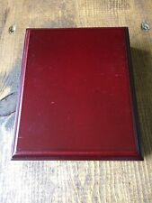 Coin Collection Box-Red Brown Wooden Box-Holds One Graded Coin-No Coin Included