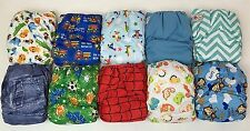 10 PACK POCKET CLOTH DIAPERS WITH 20 INSERTS 2 Inserts per diaper-BOY PACK #16A