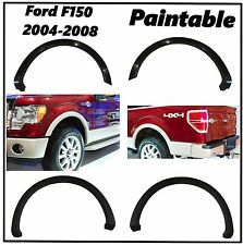 FENDER FLARES OE STYLE SMOOTH 4PCS PAINTABLE NO DRILLING FORD F150 Front & Rear
