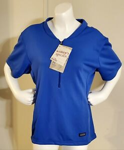 Mt Borah Royal Blue Micro Cycling Jersey Women's Short Sleeve Zipper Pockets