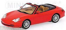 Porsche 911 996 Cabriolet 2001 1997-2006 rouge indien red 1:43 Minichamps