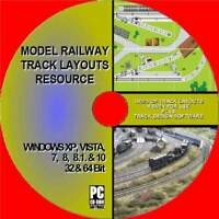 1000'S OF MODEL RAILWAY TRACK/RAIL LAYOUTS RESOURCE MULTI GAUGE/SIZE/SCALE PC CD