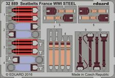 Eduard 1/32 Seat Belts France WWI STEEL # 32889