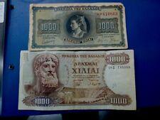 Greece Banknote Lot Of 1000 Drachmas 1942 =1970 #Φ951