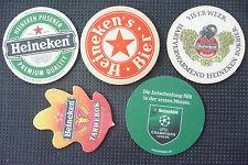 5 Bierdeckel, Bierfilzla, Brauerei Heineken Nederland, Bierbrouwerij