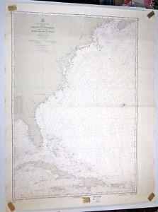 "US Navy Map Nautical Chart Halifax To Hispaniola 1961-62  Total Size 35""x 46"""