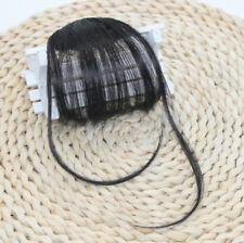 Thin Air Bangs Fringe Clip In Remy Human Hair Front Extensions Hairpiece Super