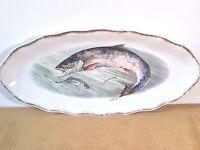 ZS&CO SCHERZER BAVARIA MIGNON FISH SEA BASS OVAL PLATTER WALL HANG ANTIQUE PORCE