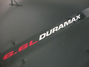 New 6.6L DURAMAX (2) TURBO DIESEL Hood Decals Chevrolet Silverado 2500 3500 HD
